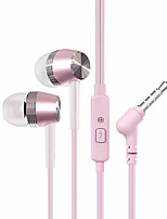 BYZ-SM589 In Ear Wired Headphones Electrostatic Aluminum Alloy Mobile Phone Earphone Noise-isolating with Volume Control Headset