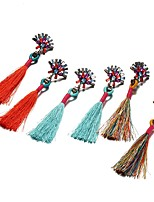 Women's Drop Earrings Jewelry Tassel Bohemian Cotton Jewelry For Party Going out