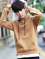 Men's Sports Hoodie Color Block Letter Hooded Micro-elastic Others Long Sleeve Spring Fall