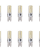 10pcs 4W G9 LED Bi-pin Lights 4 leds COB Warm White Cold White 350lm 6500/3500K AC 220-240V