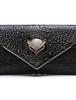Women Bags All Seasons Cowhide Clutch Zipper for Casual Black White Gold