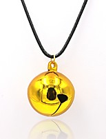 Men's Women's Pendant Necklaces Statement Necklaces Round Ball Gold Plated Bling Bling Chrismas Jewelry For Halloween Christmas