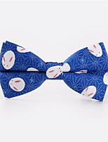 cheap -Men's Rayon Bow Tie,Casual Print All Seasons Royal Blue Blushing Pink