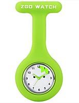 Mujer Reloj de Moda la solapa del reloj Cuarzo Silicona Banda Negro Blanco Azul Rojo Naranja Verde Rosa Amarillo