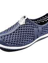 Hombre Zapatos PU Primavera Otoño Confort Zapatos de taco bajo y Slip-On Para Casual Negro Azul Oscuro Gris Rosa Azul Claro
