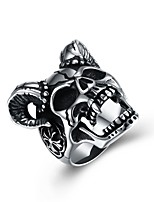 cheap -Men's Statement Rings , Classic Rock Hip-Hop Stainless Steel Skull Jewelry Ceremony Club
