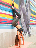Women's Medium Stitching Solid Color Legging,Color Block