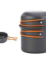 4 in 1 Camping Cookware Mess Kit 5 Piece Lightweight Aluminum Cookware Cooking