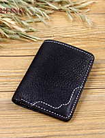 Men Bags All Seasons Cowhide Wallet Zipper for Event/Party Formal Black Brown Khaki