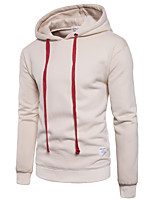 Men's Daily Casual Hoodie Solid Hooded Micro-elastic Cotton Long Sleeve Winter Fall