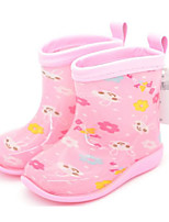 Girls' Shoes Rubber Spring Fall Rain Boots Boots For Casual Blushing Pink Blue