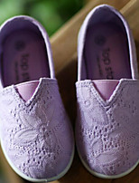 Girls' Shoes Canvas Fall Winter Comfort Loafers & Slip-Ons For Casual Yellow Purple White