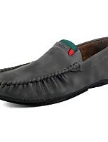 Homme Chaussures Cuir Printemps Automne Moccasin Mocassins et Chaussons+D6148 Pour Décontracté Marron Gris foncé Gris clair Brun claire