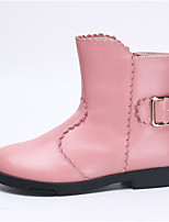 Girls' Shoes PU Winter Combat Boots Boots Booties/Ankle Boots For Casual Blushing Pink Black