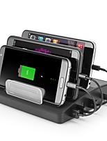 USB Charger 4 Ports Desk Charger Station Stand Dock US Plug EU Plug UK Plug AU Plug Charging Adapter