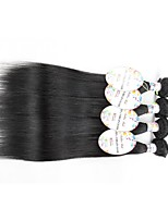 4 Pieces Natural Black Straight Brazilian Human Hair Weaves Hair Extensions 0.4kg