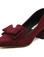 Women's Shoes Patent Leather Spring Fall Basic Pump Comfort Heels For Casual Burgundy Blue Red Gray Black