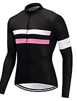 Cycling Jersey Unisex Long Sleeves Bike Jersey Quick Dry Solid Autumn/Fall Cycling Motorsports Mountain Bike/MTB Road Bike Black