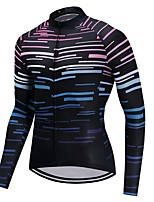 Cycling Jersey Unisex Long Sleeves Bike Jersey Fast Dry Stripe Autumn/Fall Recreational Cycling Cycling Motorsports Mountain Bike/MTB