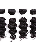 Human Hair Brazilian One Pack Solution Deep Wave Hair Extensions 8pcs/pack Black