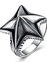 cheap -Men's Statement Ring , Silver Stainless Steel Starfish Oversized Hip-Hop Fashion Party Holiday Costume Jewelry