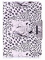 portafoglio del supporto di carta del modello del leopardo con la cassa di cuoio magnetica di vibrazione del basamento per la linguetta