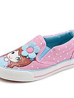 Fille Chaussures Toile Hiver Confort Mocassins et Chaussons+D6148 Pour Décontracté Bleu de minuit Rouge Rose