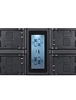 andoer lp-e17 chargeur de batterie appareil photo numérique 4 canaux w / affichage lcd pour canon 750d 760d rebel t6i t6s eos m3 / m5 / m6