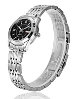 Men's Women's Fashion Watch Quartz Calendar Water Resistant / Water Proof Alloy Band Silver