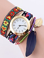 Women's Fashion Watch Bracelet Watch Unique Creative Watch Chinese Quartz Alloy Fabric Band Black White Blue Brown Pink