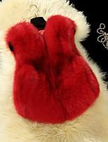 Girls' Solid Tank & Cami,Fox Fur Fall Winter Sleeveless Regular