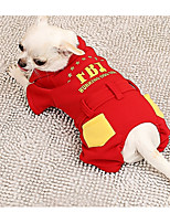 Dog Clothes/Jumpsuit Dog Clothes Casual/Daily Letter & Number Red