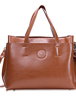 Women Bags All Seasons PU Tote Zipper for Shopping Casual Blue Black Drak Red Brown