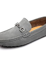 Men's Shoes Leatherette Fall Winter Comfort Loafers & Slip-Ons Split Joint For Casual Blue Gray Black