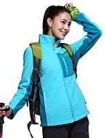 Women's Hiking Fleece Jacket Keep Warm Outdoor Winter Fleece Jacket Full Length Visible Zipper for Camping / Hiking Casual Camping /