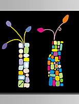 Ручная роспись Абстракция Абстракция 1 панель Холст Hang-роспись маслом For Украшение дома