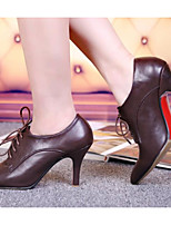 Women's Shoes Nappa Leather Spring Fall Basic Pump Heels Stiletto Heel For Casual Brown Black