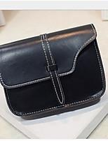 Women Bags All Seasons PU Shoulder Bag Zipper for Casual Black Purple Wine