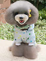 Dog Pajamas Dog Clothes Casual/Daily Polka Dots Yellow Blue Costume For Pets