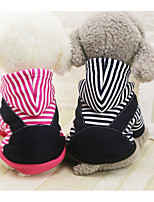 Dog Hoodie Dog Clothes Casual/Daily British Fuchsia Dark Blue