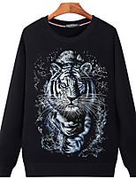 Men's Casual/Daily Sweatshirt Print Round Neck Micro-elastic Cotton Long Sleeve Fall