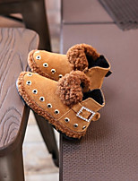Girls' Shoes Suede Winter Snow Boots Boots Booties/Ankle Boots Rivet For Casual Yellow Black