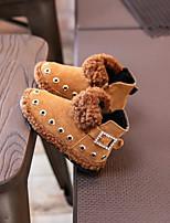 Fille Chaussures Daim Hiver Bottes de neige Bottes Bottine/Demi Botte Rivet Pour Décontracté Noir Jaune