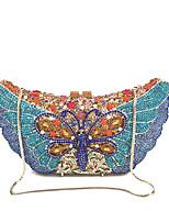 Damen Taschen Ganzjährig Metall Abendtasche Kristall Verzierung für Hochzeit Veranstaltung / Fest Formal Blau Schwarz Purpur