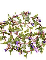 1 Une succursale Polyester Roses Guirlande et Fleur Murale Fleurs artificielles