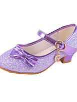 Girls' Shoes Synthetic Microfiber PU Spring Fall Comfort Novelty Heels Buckle For Party & Evening Dress Red Purple White