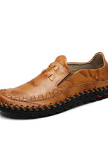 Men's Shoes Cowhide Fall Winter Comfort Loafers & Slip-Ons For Casual Black Brown
