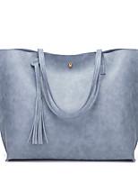 Women Bags PU Shoulder Bag Flower(s) for Shopping Casual All Seasons Blushing Pink Gray Dark Green Brown Wine