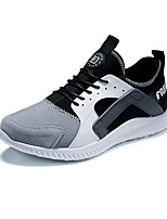 Men's Shoes Tulle Fall Winter Comfort Sneakers Lace-up For Casual Outdoor Navy Blue Gray Black