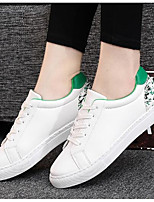 Women's Shoes Breathable Mesh PU Spring Fall Comfort Sneakers Chunky Heel Booties/Ankle Boots For Casual White/Green Black/White